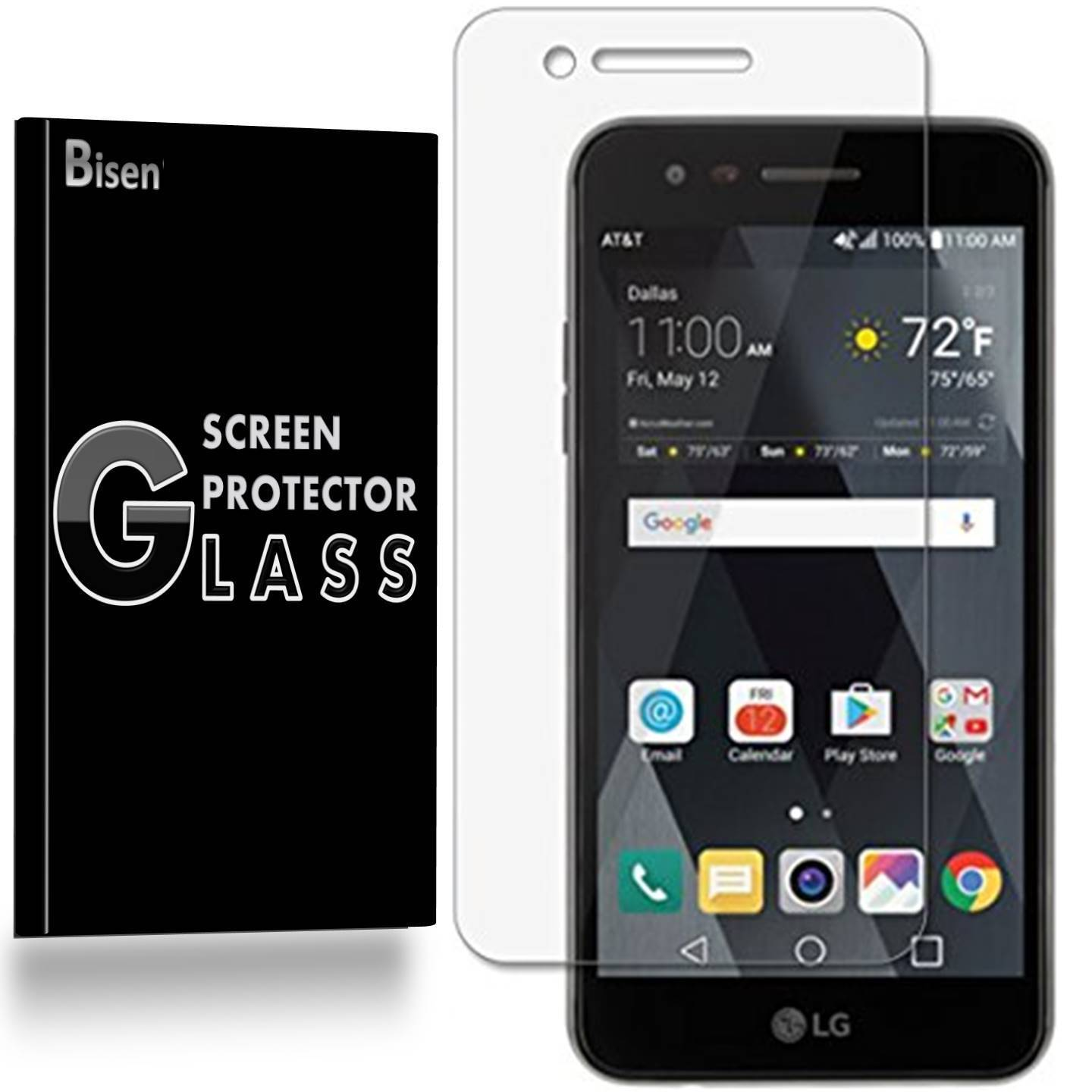 [BISEN] 9H Tempered Glass Screen Protector For LG Phoenix 3