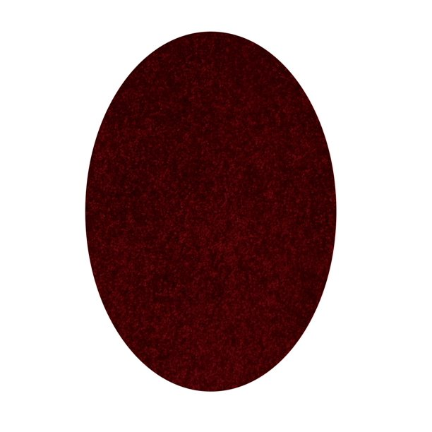 Solid Color Oval Shape Burgundy 7 X9