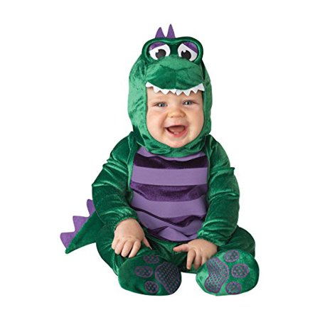 InCharacter Costumes Baby's Dinky Dino Dinosaur Costume, Green/Purple, Medium