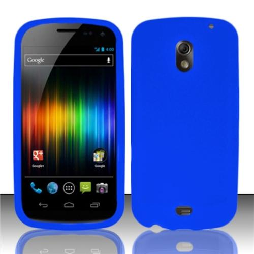Insten Blue Silicone Soft Skin Case Cover For Samsung Galaxy Nexus CDMA i515/i9250