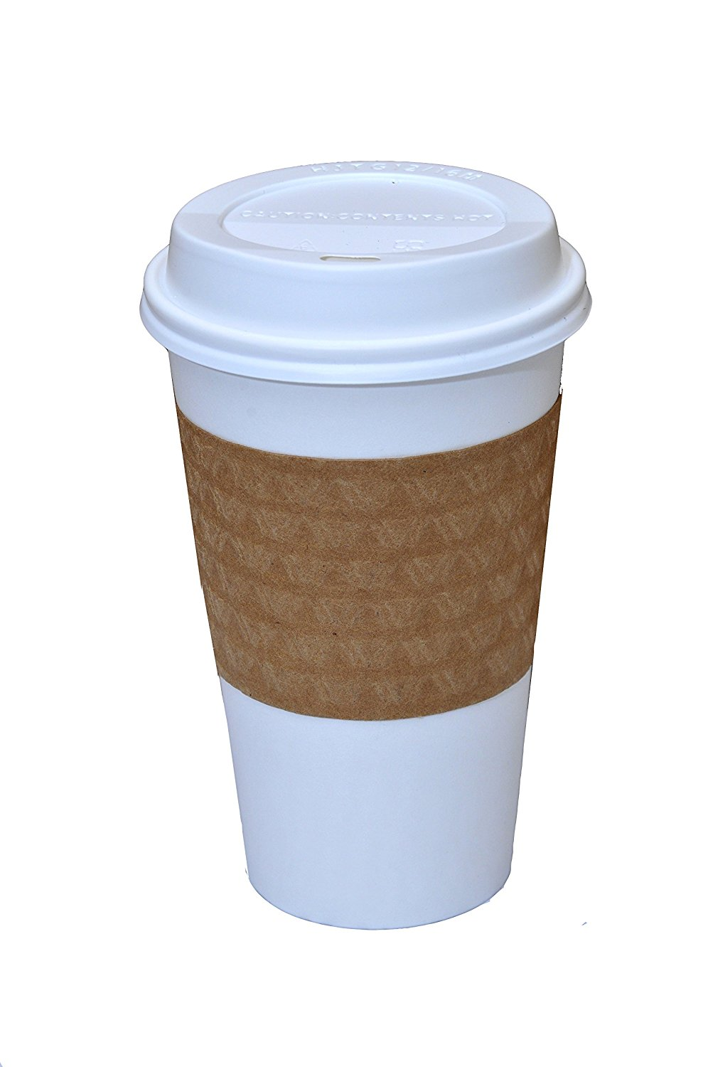Solo White Paper Hot Cups with Lids, 16 oz, 100 Count by