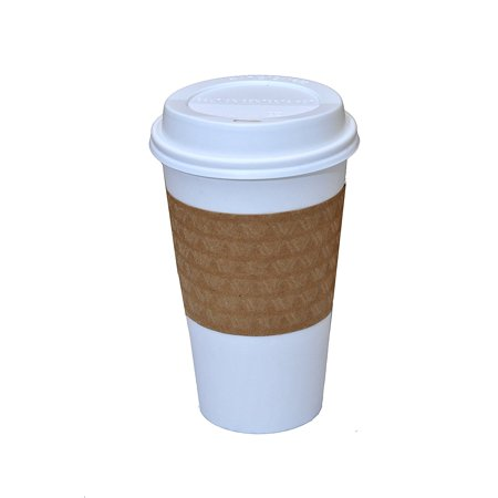 Cup Lids (Solo White Paper Hot Cups with Lids, 16 oz, 100)