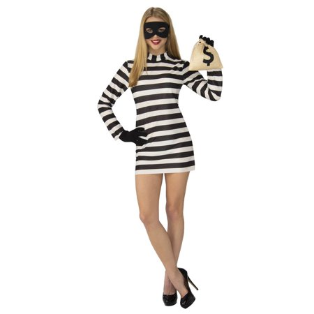 Womens Burglar Babe Costume - Woman Burglar Halloween Costume