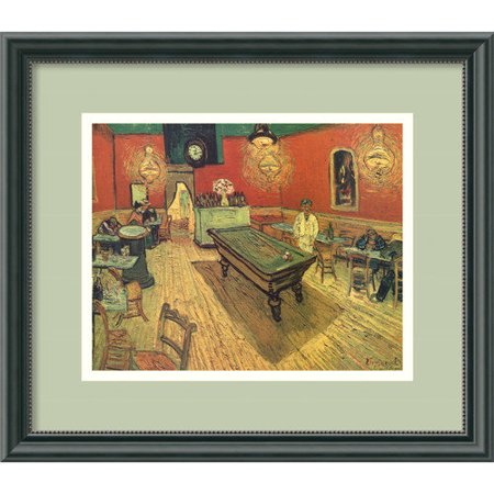Amanti Art 'Night Cafe with Pool Table' by Vincent Van Gogh Framed Painting Print