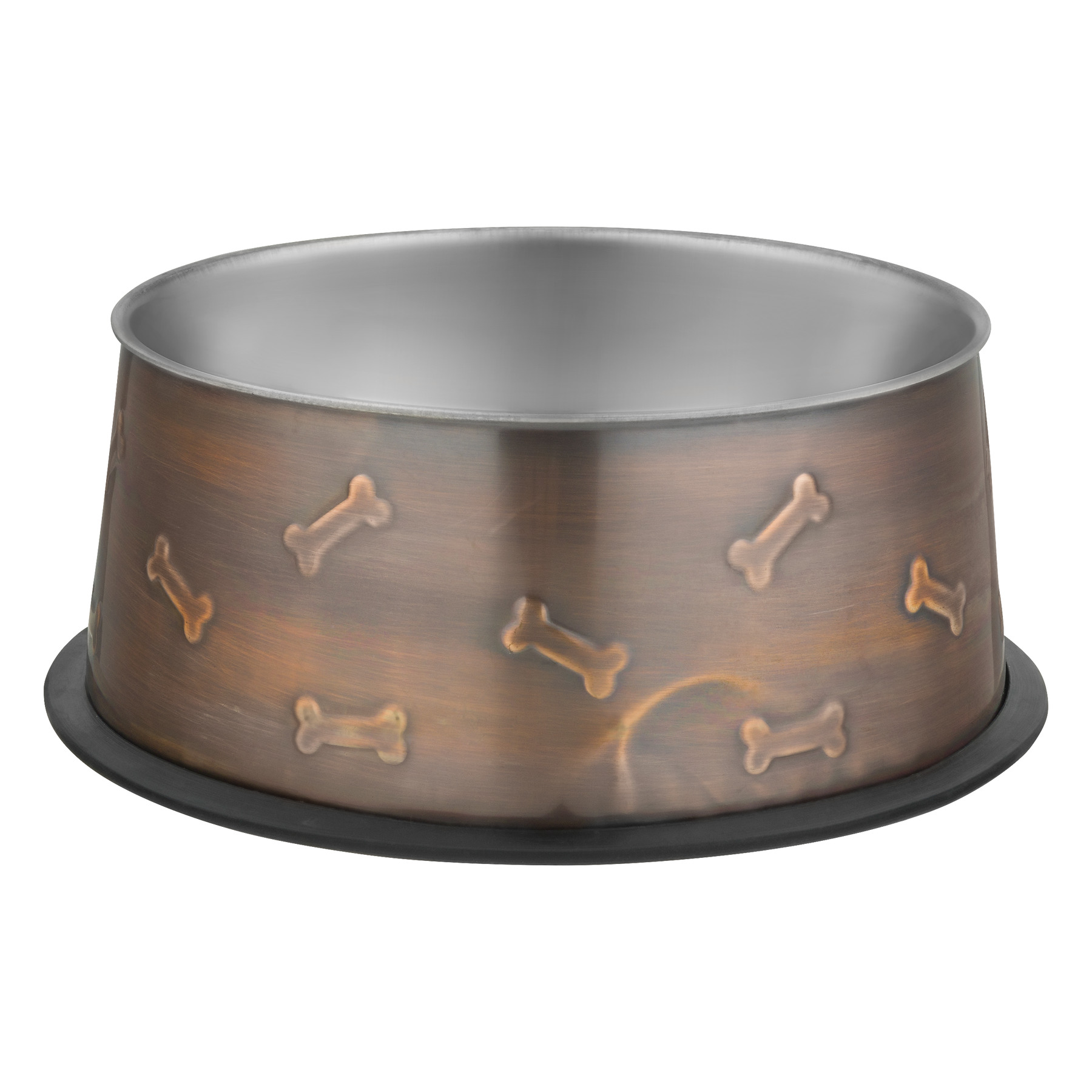 Loving Pets Ruff-N-Tuff Bowl Artistic Antique Copper 48OZ, 1.0 CT