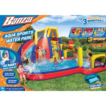 Mega Water Slide - Banzai Aqua Sports Water Park  (Inflatable Water Slide, Volleyball, Basketball, Polo and Waterfall)