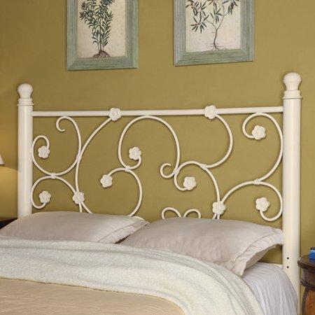 Coaster Full/Queen Floral Metal Headboard, White - Coaster Full/Queen Floral Metal Headboard, White - Walmart.com