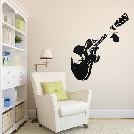 Guitar Rock Music Wall Sticker Decal Rock Boy Girl Bedroom Home Mural Decor Wall Sticker