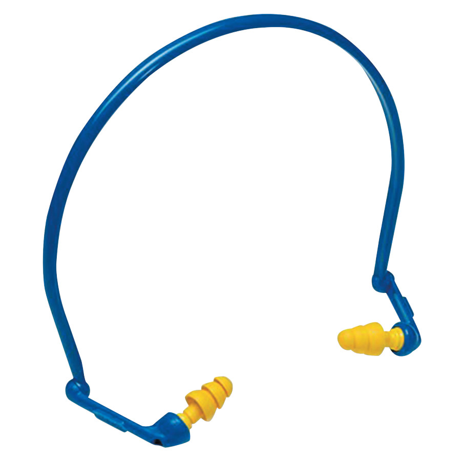 E-A-Rflex Hearing Protector with UltraFit Tips, Banded, Yellow/Blue, 10 Pr/box