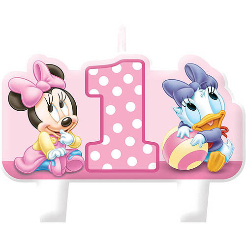 Minnie's 1st Candle Set, Pink, 4-Pack