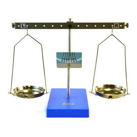 Spring Balance Scale - Eisco Labs Pan Balance Scale Demonstration Lever - Low Friction Pivot, 10.6