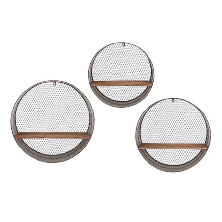 IMAX Laurel Round Wall Shelves - Set of 3