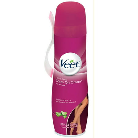 2 Pack - VEET Spray On Hair Removal Cream Sensitive Formula 5.10