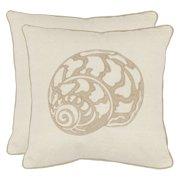 Safavieh Kyler 18 in. Decorative Pillows - Creme - Set of 2