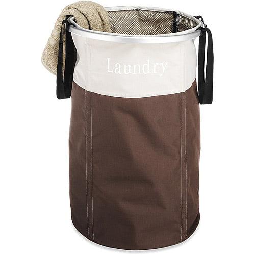 Whitmor Round Laundry Hamper, Java