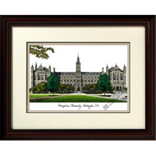 Campusimages DC996LR Gerogetown University Legacy Alumnus Framed Lithograph