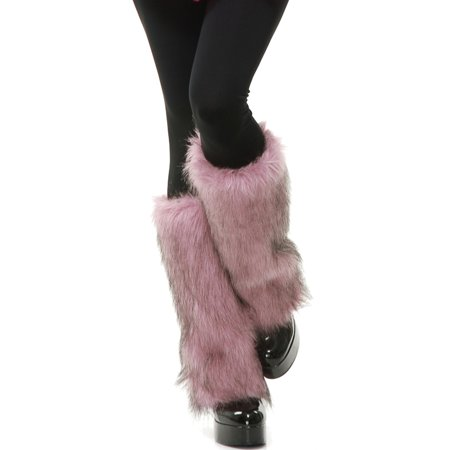 Adults Womens Pink White  Club Rave Furry Monster Leg Warmers