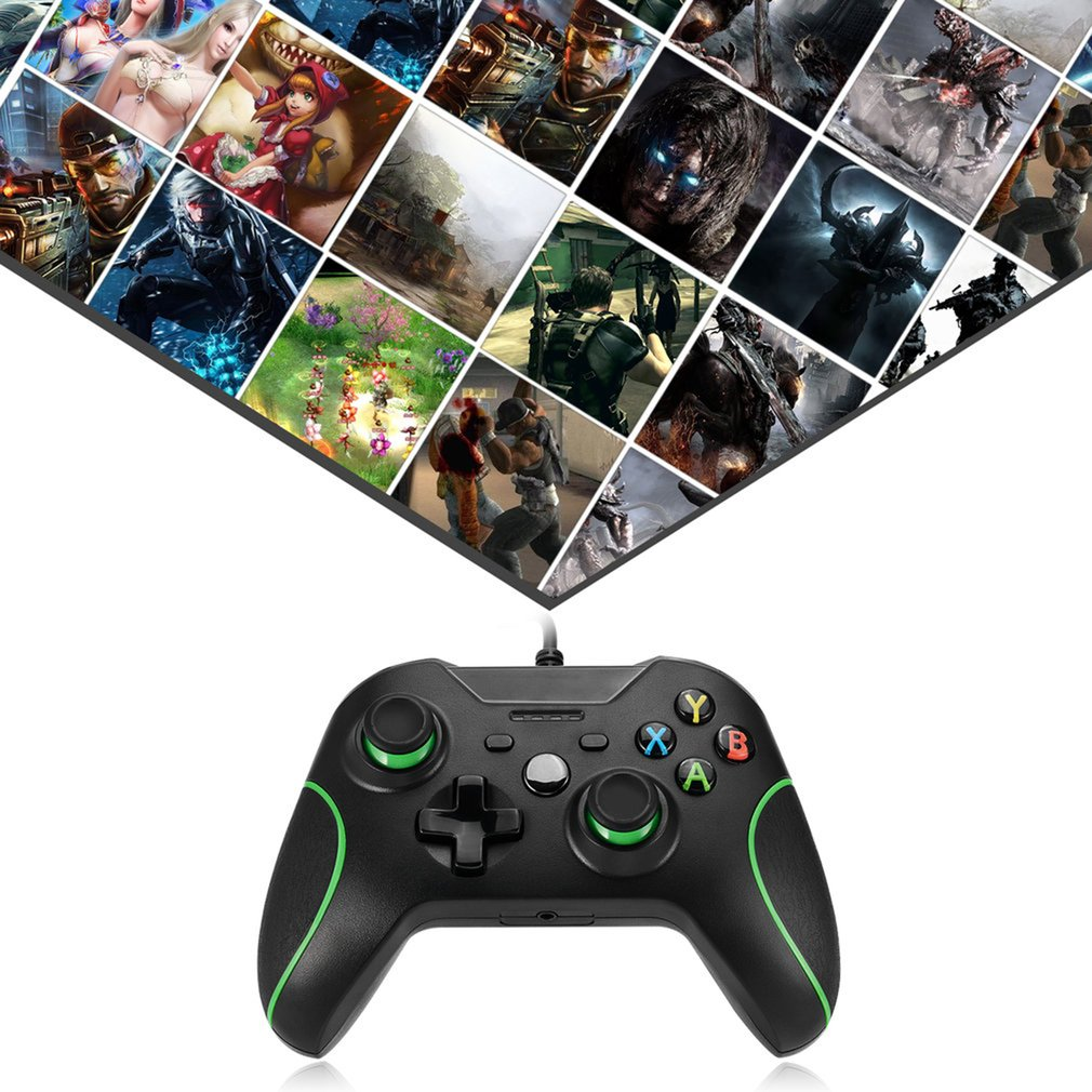 USB Wired Gaming Controller Computer PC Gamepad Joystick Joypad For Xbox One