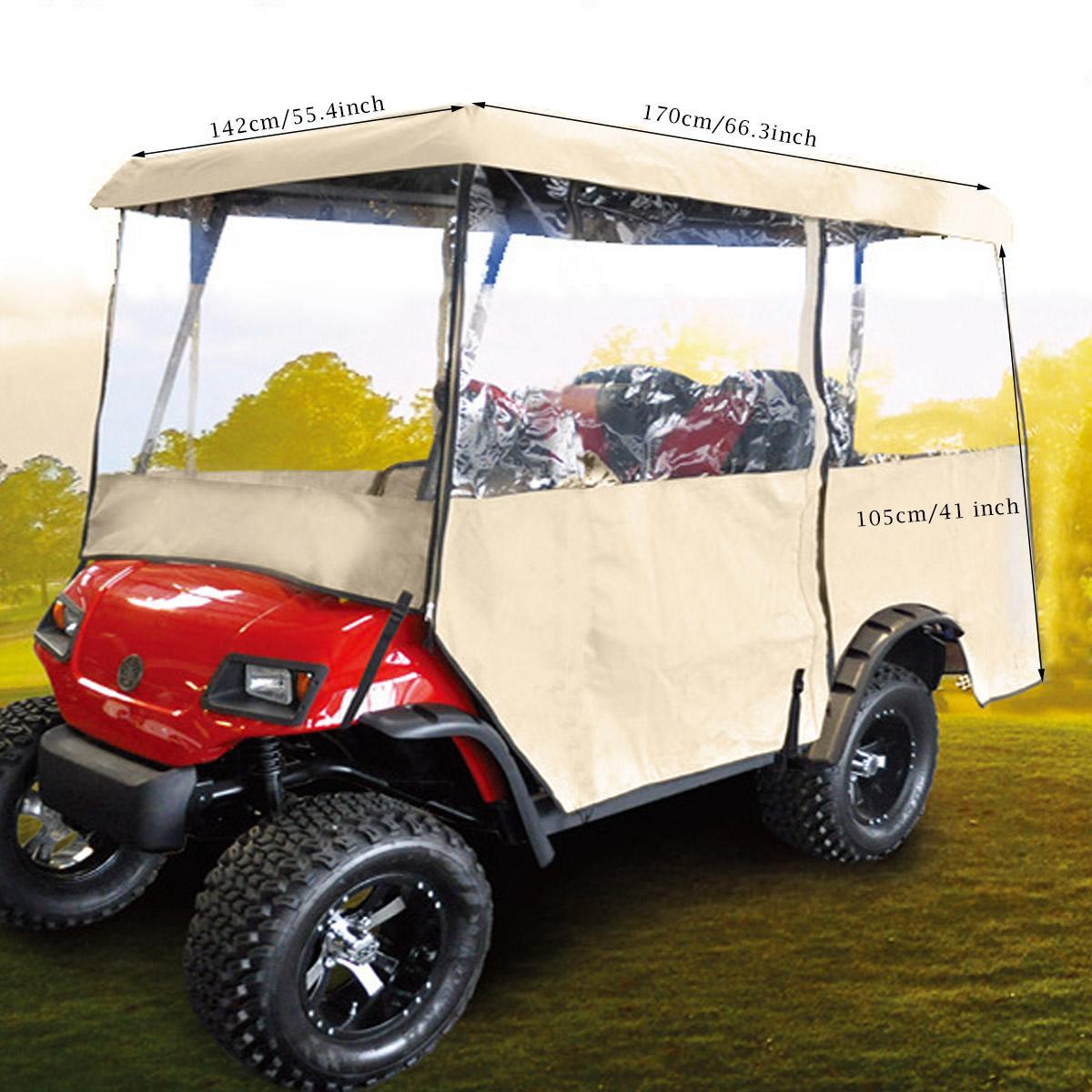 Two Persons\' Driving Golf Cart Rain Enclosure Cover Margot