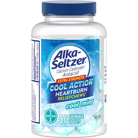 Alka-Seltzer Cool Action Extra Strength Heartburn ReliefChews Chewable Tablets, 50