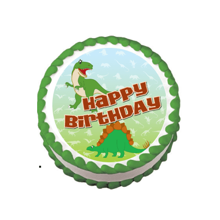 Dinosaurs Edible Frosting Sheet Photo Image Cake Topper](Halloween Themed Sheet Cakes)