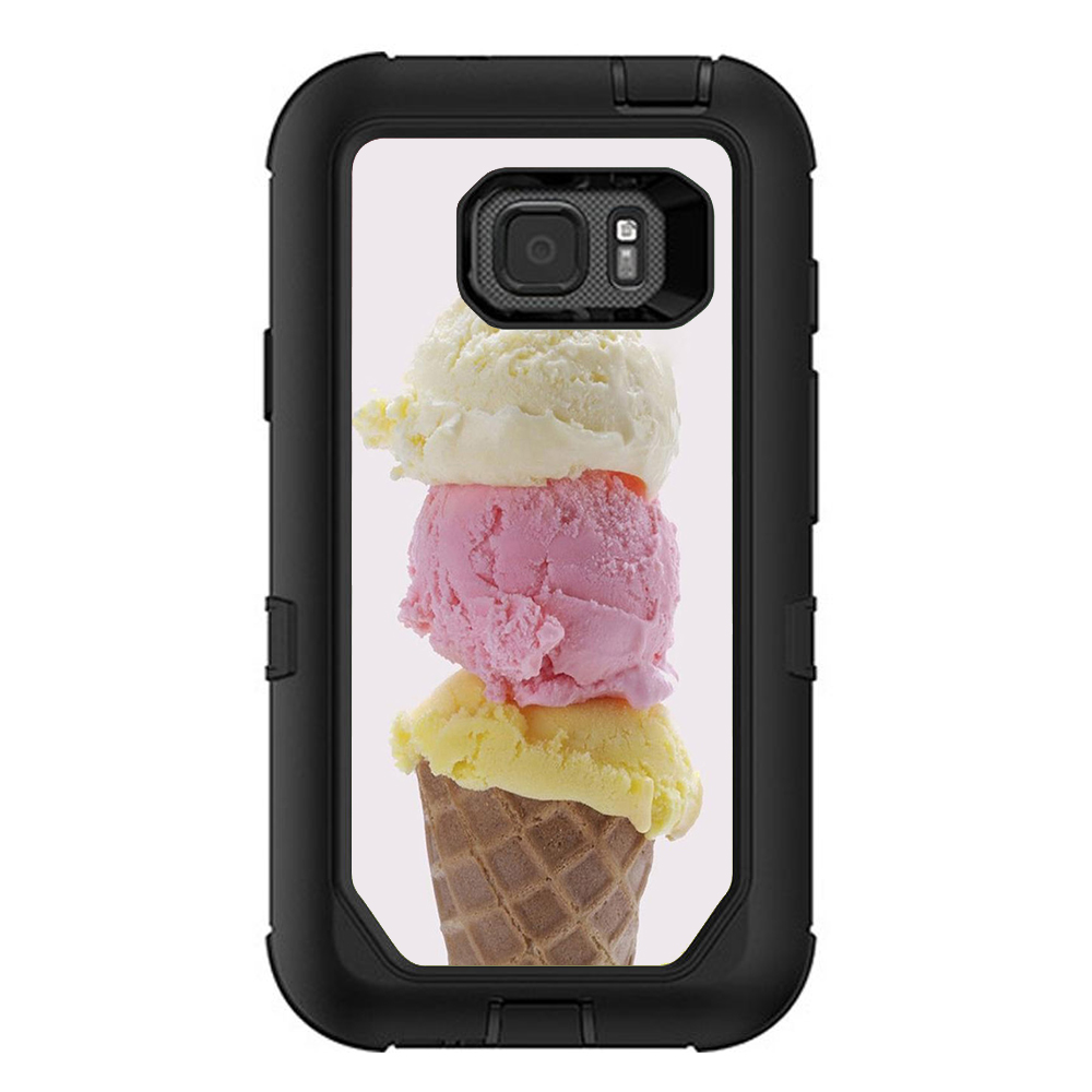 Skins Decals For Otterbox Defender Samsung Galaxy S7 Active Case / Ice Cream Cone