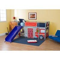 Fire Department Junior Fantasy Loft with Slide - Silver