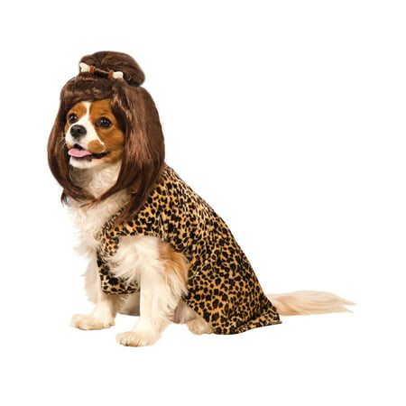 Cave Woman Pet Prehistoric Dog Cat Leopard Print Halloween Costume (Halloween Leopard Cat Costumes)