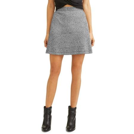 (Women's Zip Detail A-Line Skirt)