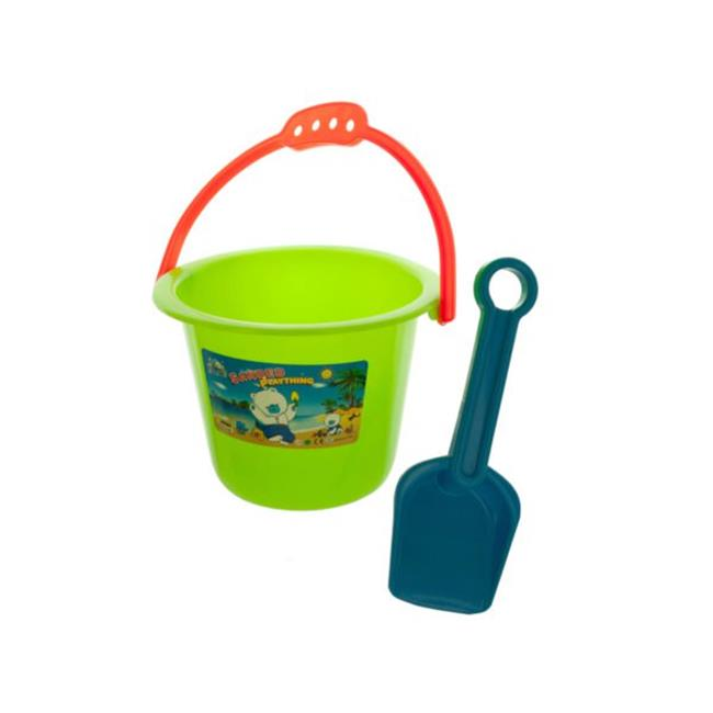 Kole Imports KK578-40 5 x 6.5 in. dia. Colorful Sand Pail & Shovel Set - Pack of 40