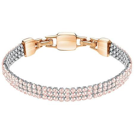 Swarovski Rose Crystal Mesh Bracelet CLIM Medium, Rose Gold #5278710