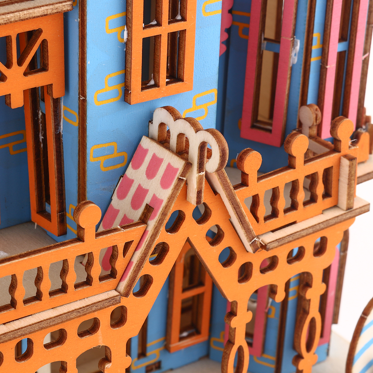 New 174PCS 3D Wooden Laser Cutting Dream Villa Three-dimensional Assembly Puzzle