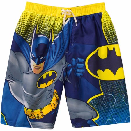 2d7df47160 DC - DC Comics Batman Swim Shorts Trunks Boy Size 4/5 - Walmart.com