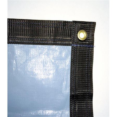 Gli Pool 451224REEPX5BX 1224 Rectangle Estate Plus Xtreme Solid IG Winter Cover with Grommets, Loops & Perimeter Binding, Glacier Blue - 17 x 29 ft.