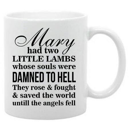 Mary Had Two Little Lambs Coffee Mug, 11 oz. Supernatural  Cup - Yard Cup