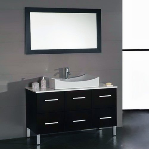 Cambridge Plumbing Linden 48'' Single Bathroom Vanity Set with Mirror