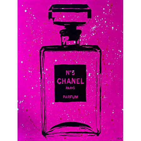 OVERSIZE Chanel P!NK Urban Chic 48x36 Giclee Art Print Poster by PopArtQueen POD - Chanel Party Decor