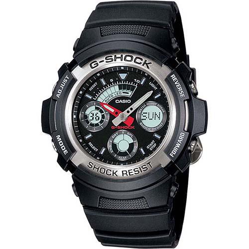 Casio Men's Analog-Digital G-Shock Sport Watch, Black Resin Band