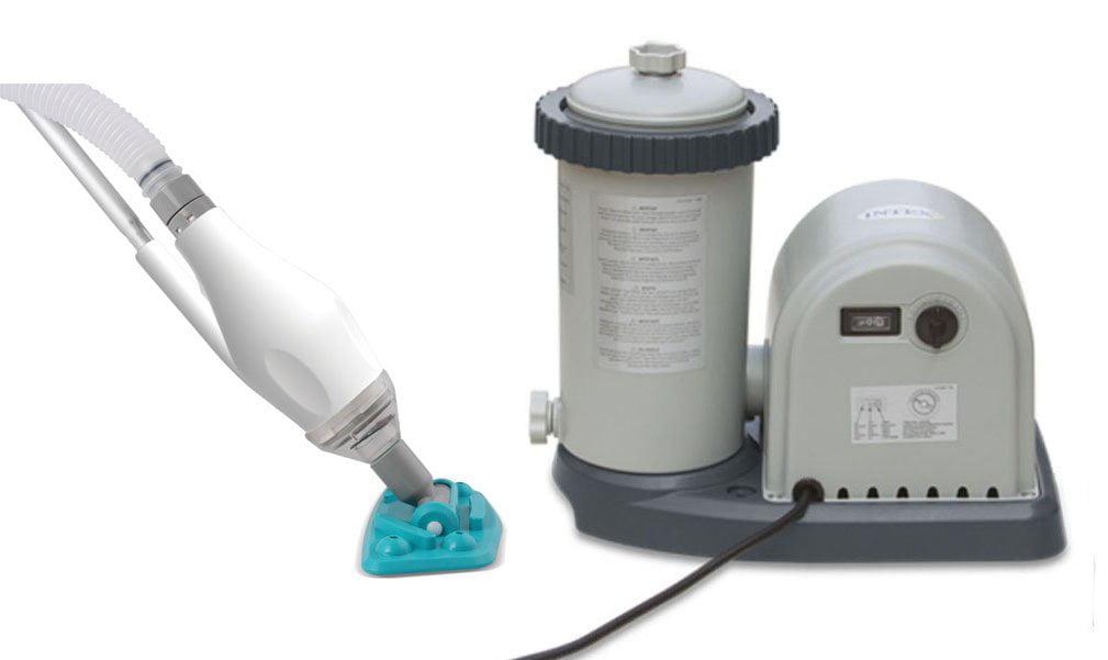 Intex 1500 GPH Easy Set Swimming Pool Filter Pump w  GFCI & Skooba Max Vacuum by Intex
