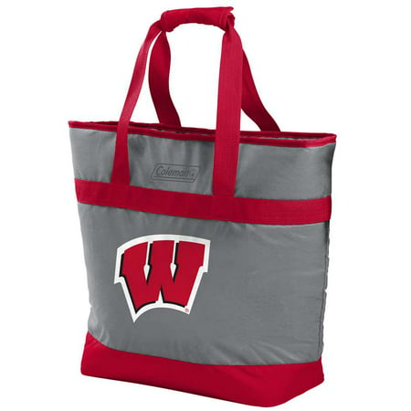 NCAA Wisconsin Badgers 30 Can Soft Sided Tote (Wisconsin Badgers Tailgate Cooler)
