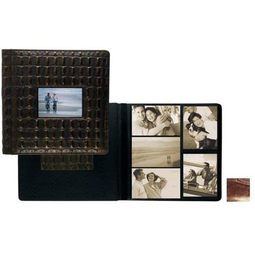 Raika NI 113 BROWN 4inch x 6inch Frame Front Large Album - Brown