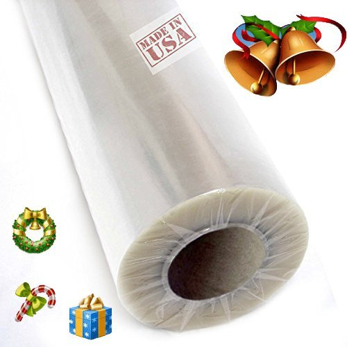 "30"" 100 ft Gift Wrapping Clear Cellophane Roll for Gift baskets, Christmas Wrapping Arts and Crafts, Idea for gift baskets, crafts, flowers, desserts, and more!"