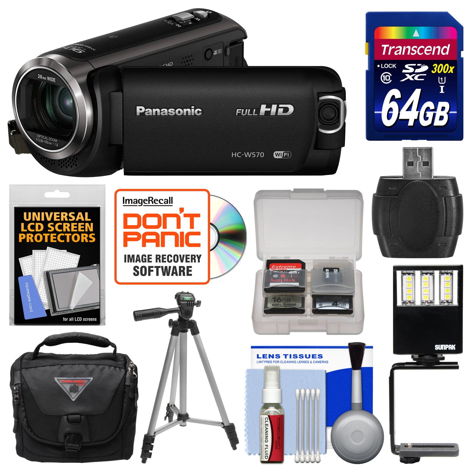 Panasonic HC-W570 Twin Recording HD Wi-Fi Video Camera Ca...