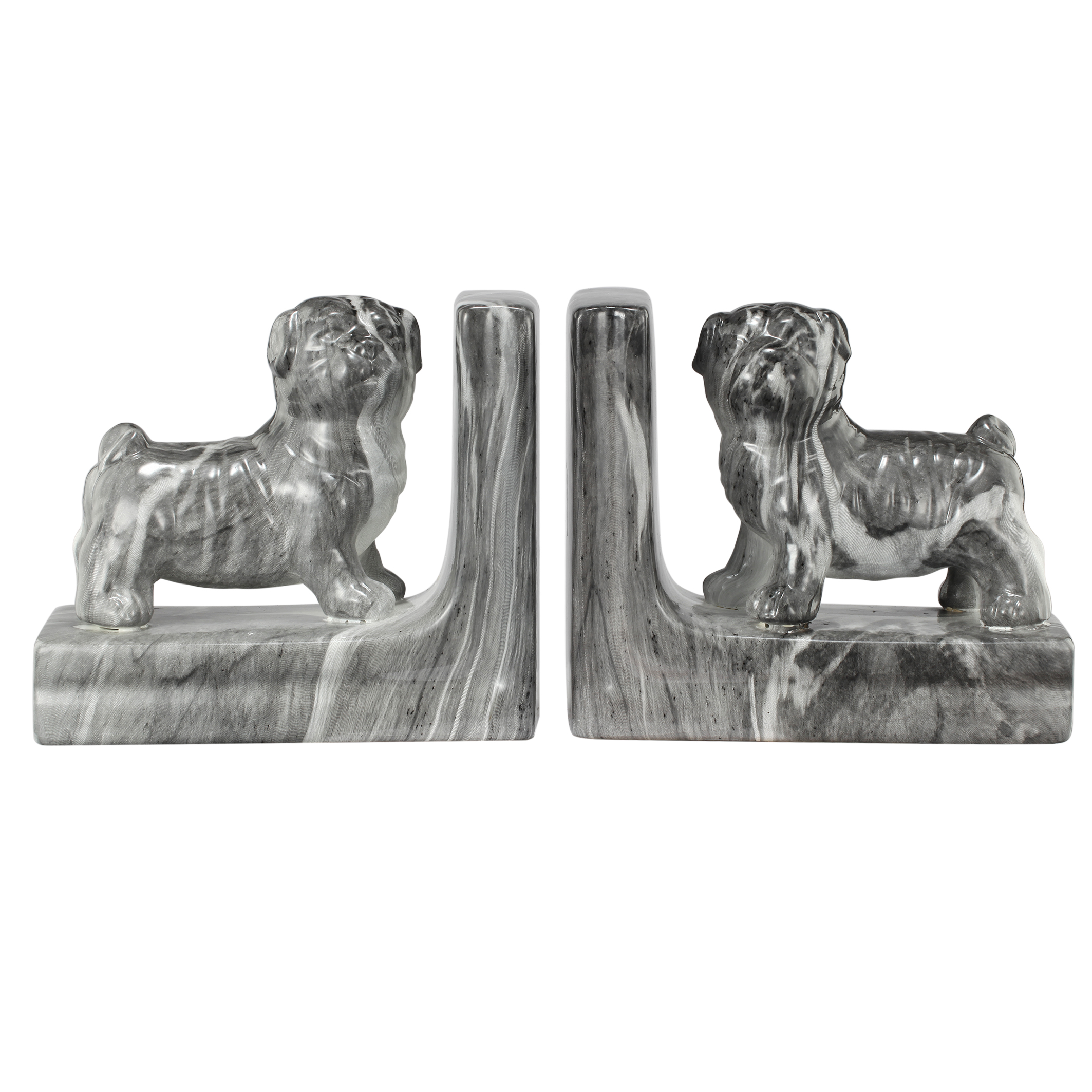A&B Home Bull Dog Ceramic Bookends, Set of 2 by A&B Home