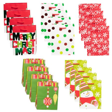 Hallmark (20 Pack) Assorted Small Mini Holiday Christmas Gift Bags Christmas Present Wrap Stocking Stuffers