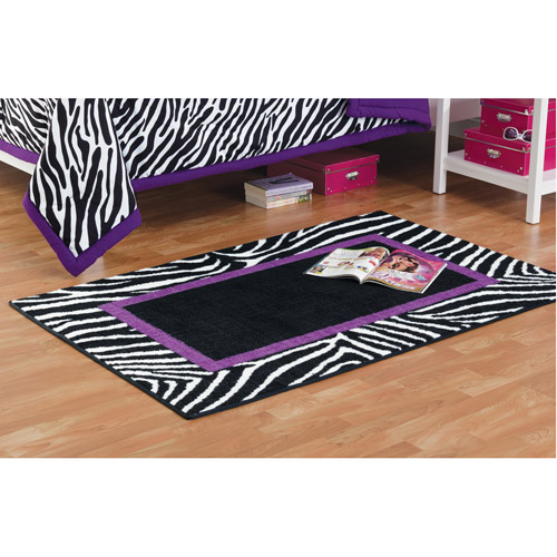 "your zone zebra printed rug, purple, 30"" x 44"""