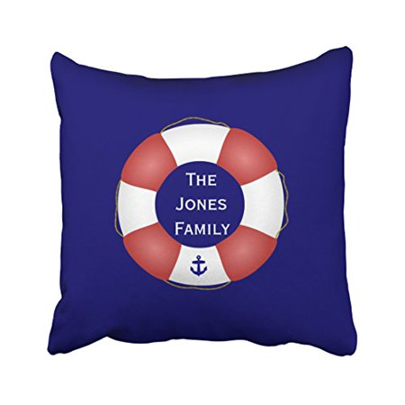 Fashion Aquatic Preserver (WinHome Square Throw Pillow Covers Retro Fashion Nautical Life Preserver Customizable Pillowcases Polyester 18 X 18 Inch With Hidden Zipper Home Sofa Cushion Decorative Pillowcase )