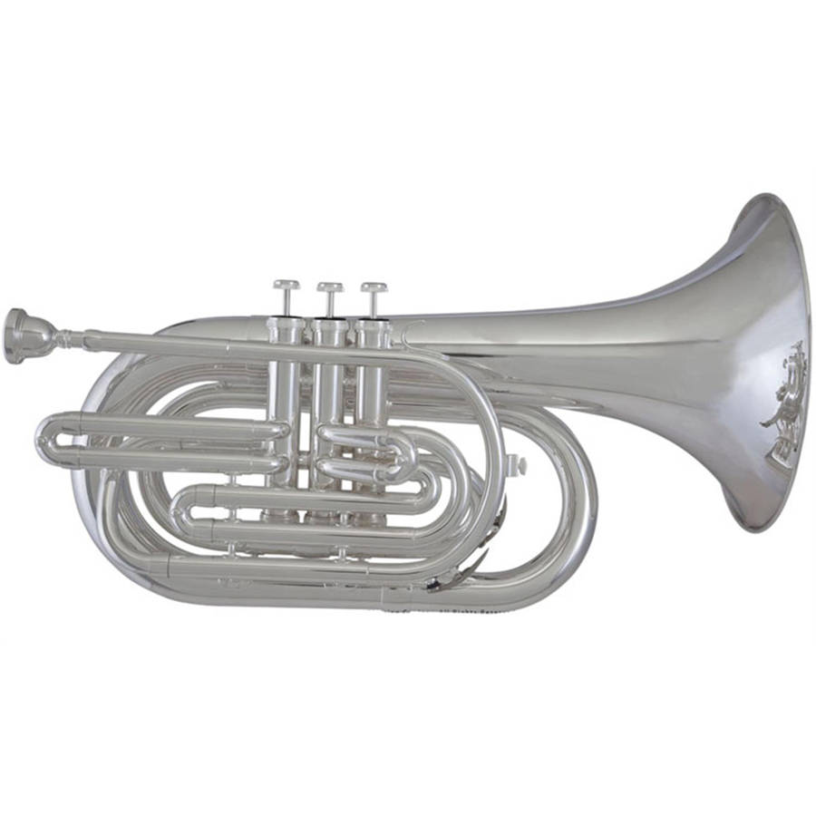 Blessing BM-301 Marching Baritone, Silver-Plated by Blessing