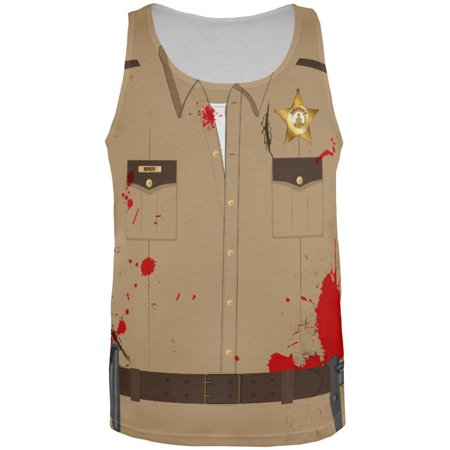 Halloween Zombie Sheriff Costume All Over Adult Tank Top