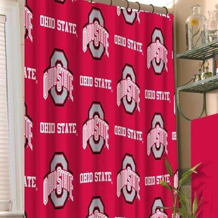 NCAA Ohio State Buckeyes Shower Curtain College Football Team Logo Bath Accessory